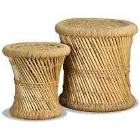 Jakkarat 2 kpl bambu ja juutti