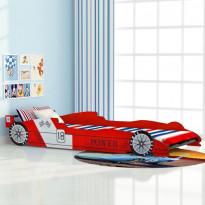 Lastensänky kilpa-auto 90x200cm punainen