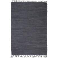 Chindi-matto, 160x230cm, käsinkudottu, puuvilla, antrasiitti