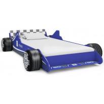 Lastensänky kilpa-auto 90x200 cm sininen