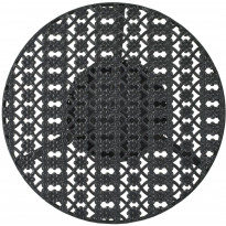 Bistropöytä musta, 40x70 cm, metalli