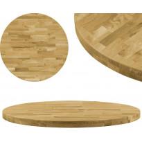Pöytälevy kiinteä tammipuu pyöreä 44mm 600 mm
