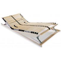 Sängyn sälepohja 80x200 cm 28 säleellä 7 vyöhykettä