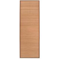 Joogamatto, bambu, 60x180cm, ruskea