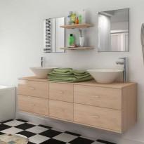 9-osainen kylpyhuone huonekalu ja pesuallassarja hanalla
