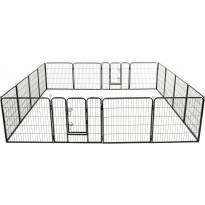 Pentuaitaus, 16 paneelia, teräs, 80x80cm, musta