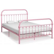 Sängynrunko pinkki metalli 140x200 cm