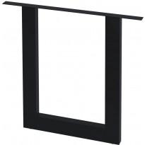 Ruokapöydän jalat 2 kpl o-runko 80x72 cm