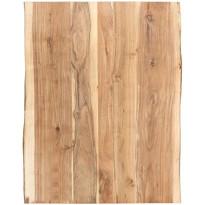 Pöytälevy täysi akaasiapuu 80x60x3,8 cm