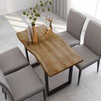 Ruokapöytä 118x58x76cm täysi akaasiapuu