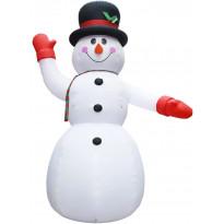 Ilmatäytteinen lumiukko LED-valoilla, IP44, 300cm