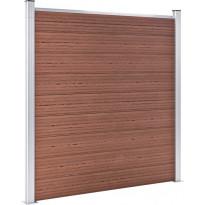 Puutarha-aita, puukomposiitti, 353x186cm, ruskea