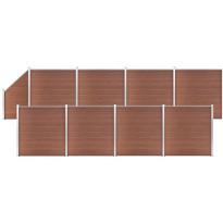 Aitasarja, 8 paneelia + 1 vinopaneeli, puukomposiitti, 1484x186cm, ruskea
