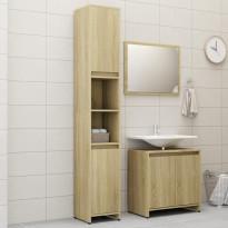 3-osainen kylpyhuonekalustesarja ja sonoma-tammi lastulevy