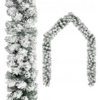 Jouluseppele lumihuurteella, vihreä, 20 m, PVC