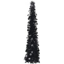 Pop-up tekojoulukuusi, musta, 120cm, PET