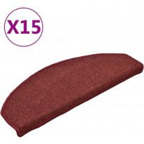 Porrasmatot 15kpl, 65x24x4cm, punainen