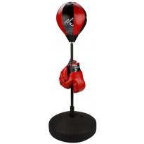 Nyrkkeilypallosarja Junior Reflex, punainen/musta