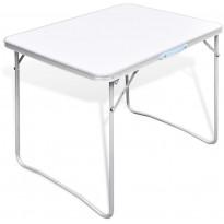 Retkipöytä 80x60cm, metallirungolla