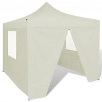 Pop-up teltta kokoontaitettava, seinillä, 3x3m, kerma