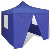 Pop-up teltta kokoontaitettava, seinillä, 3x3m, sininen
