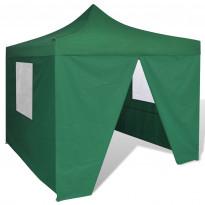 Pop-up teltta kokoontaitettava, seinillä, 3x3m, vihreä