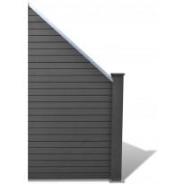 Aitapaneeli, puukomposiitti, 105x(105-185)cm, harmaa