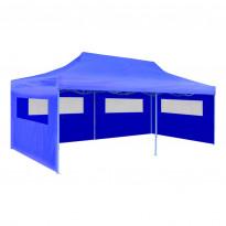 Juhlateltta kokoontaitettava, 3x6m, sininen