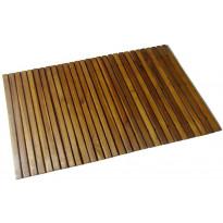Kylpyhuoneen matto, 80x50cm, akaasia