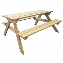 Piknikpöytä, 150x135x71,5 cm, puu
