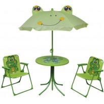 3-osainen Lasten bistrosarja aurinkovarjolla, vihreä