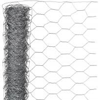 Metalliverkko kuusikulmainen, 0.5x2.5m, 25mm, galvanoitu teräs
