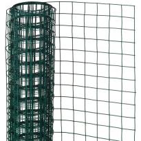 Metalliverkko, neliö, 0.5x2.5m, 13mm, muovipäällysteinen teräs, vihreä
