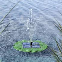 Kelluva suihkulähteen pumppu, aurinkovoima, lootuslehti