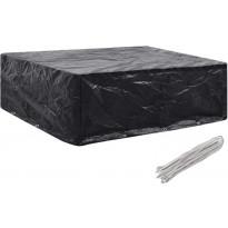 Puutarhakalusteiden suoja, 8 purjerengasta, 250x210x90 cm