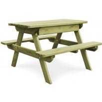 Piknikpöytä penkeillä, 90x90x58 cm, kyllästetty mänty