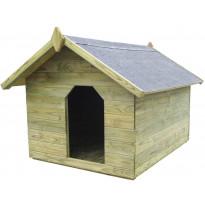 Koirankoppi avattavalla katolla, 85x105.5x123.5cm