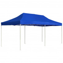 Juhlateltta kokoontaittuva, alumiini, 6x3m, sininen