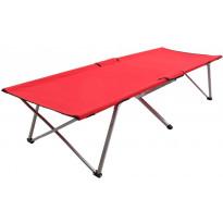 Retkisänky 206x75x45cm, XXL, punainen, Verkkokaupan poistotuote
