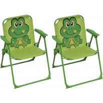 Lasten puutarhatuolit 2 kpl, vihreä kangas
