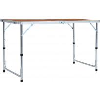 Retkipöytä 120x60cm, alumiini