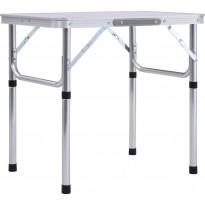 Retkipöytä 60x45cm, alumiini, valkoinen