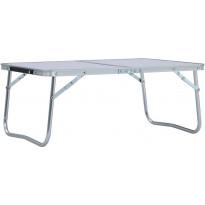 Retkipöytä 60x40cm, alumiini, valkoinen