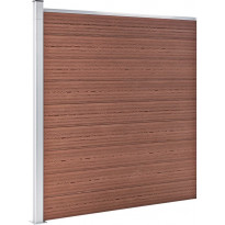 Puutarha-aita, puukomposiitti, 180x186cm, ruskea