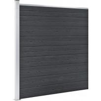 Puutarha-aita, puukomposiitti, 180x186cm, 9 paneelia, harmaa