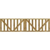 Puutarhaportti säleiköllä, 2, pl, kyllästetty mänty, 150x80cm