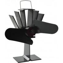 Lämmöllä toimiva hellatuuletin, 2 lapaa, 220x210x90cm