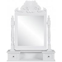 Pieni peilipöytä suorakulmaisella käännettävällä peililläm