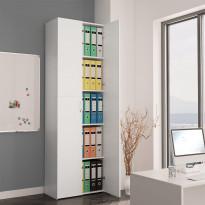 Toimistokaappi valkoinen 60x32x190 cm lastulevy