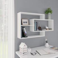 Seinähyllyt valkoinen 104x20x60 cm lastulevy